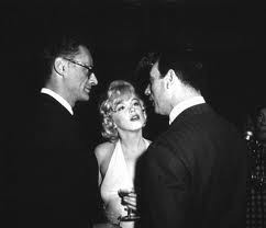 Monroe,Miller & Montand at party